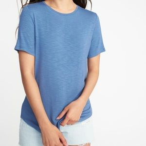 Old Navy Luxe Tee Cowboy Blue